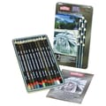 Derwent Tinted 12 Piece Charcoal Pencil Set
