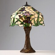 Warehouse of Tiffany Iris 23'' H Table Lamp with Bowl Shade
