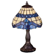 Meyda Tiffany Art Glass Baroque 11.5'' H Mini Table Lamp with Empire Shade