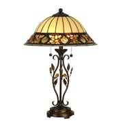 Dale Tiffany Pebblestone 27'' H Table Lamp with Bowl Shade