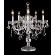 Elegant Lighting Maria Theresa 22'' H Table Lamp; Chrome / Crystal (Clear) / Elegant Cut