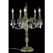 Elegant Lighting Rosalia 28'' H Table Lamp; French Gold / Crystal (Clear) / Spectra Swarovski