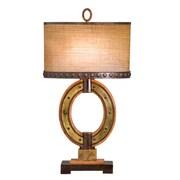 Kalco Aspen 32'' H Table Lamp with Oval Shade; Royal Mahogany