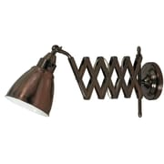 Wildon Home   Floororen Swing Arm 10'' H Table Lamp with Bowl Shade; Copper Bronze