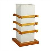 Oriental Furniture Ido 17'' H Table Lamp w/ Rectangular Shade; Honey
