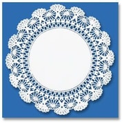 HOFFMASTER 12'' Round Cambridge Lace Doilies in White