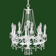 Livex Lighting Athena 8 Light Chandelier; Antique White