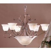 Classic Lighting Treviso 9 Light Chandelier; Weathered Clay