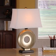 InRoom Designs Sleek 25'' H Table Lamp with Rectangle Shade