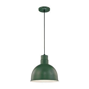 Millennium Lighting R Series 1-Light Kitchen Pendant; Satin Green