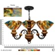 Jezebel Gallery Signature 3 Light Floral Vineyard Chandelier; Daylily
