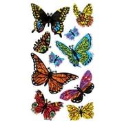 Jillson & Roberts Bulk Roll Prismatic Assorted Butterfly Sticker