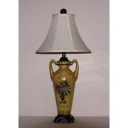 Lamp Factory Floral Medallion 29'' Table Lamp