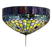 Meyda Tiffany 3 Light Tiffany Candice Flush Mount