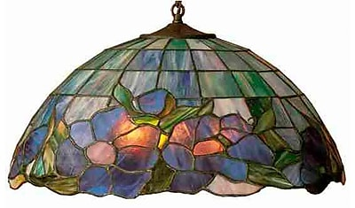 Meyda Tiffany Art Glass 1 Light Bowl Pendant WYF078276482721