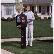 Step2 Trimline Plus Post Mounted Mailbox; Black