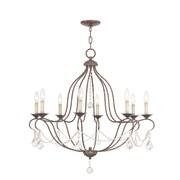 Livex Lighting Chesterfield 8 Light Chandelier; Venetian Golden Bronze