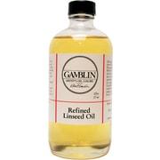 Gamblin Refined Linseed Oil; 8 oz