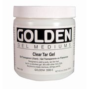 Golden Artist Colors 8 Oz Clear Tar Gel