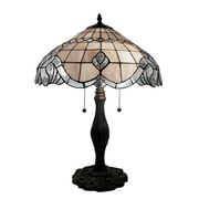 Warehouse of Tiffany Pearl Baroque 28'' H Table Lamp with Bowl Shade