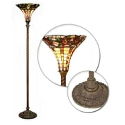 Warehouse of Tiffany Flower 72'' Torchiere Floor Lamp
