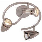 TransGlobe Lighting Modern Track Lights 3 Light Spiral Full Track Lighting Kit; Brushed Nickel
