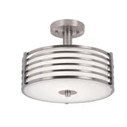 TransGlobe Lighting 2-Light Large Semi Flush Mount