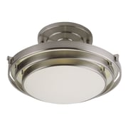 TransGlobe Lighting 1 Light 3 Step Semi Flush Mount; Brushed Nickel