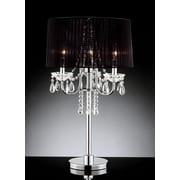 OK Lighting Crystal Drop 27.5'' H Table Lamp