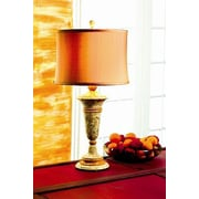 Lex Lighting Fossil and Caramel 32'' H Table Lamp with Drum Shade