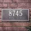 Whitehall Products Double Line Estate Address Plaque; Black and Gold
