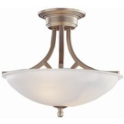TransGlobe Lighting 2-Light Semi Flush Mount