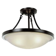 TransGlobe Lighting 3-Light Semi Flush Mount; Brushed Nickel