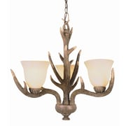 TransGlobe Lighting Olde World 3-Light Shaded Chandelier