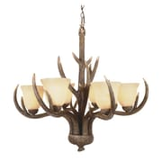 TransGlobe Lighting Olde World 6-Light Shaded Chandelier