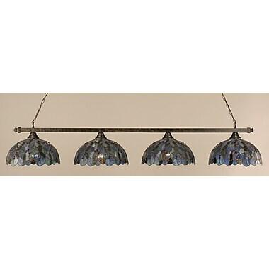 Toltec Lighting 4-Light Kitchen Island Pendant; Bronze