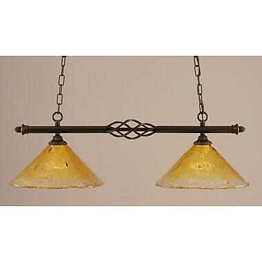 Toltec Lighting Elegant 2 Light Kitchen Island Pendant
