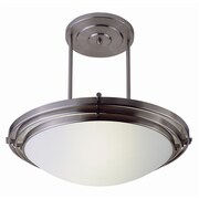 TransGlobe Lighting Contemporary 1 Light Inverted Pendant; Rubbed Oil Bronze