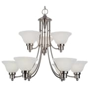 TransGlobe Lighting 9 Light Chandelier - Energy Star; Brushed Nickel