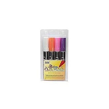 Marvy Bistro Markers (Set of 4); White / Purple / Orange / Pink