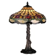 Meyda Tiffany Victorian Tiffany Nouveau Colonial Tulip 19.5'' H Table Lamp with Bowl Shade