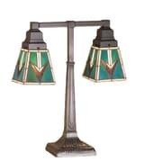 Meyda Tiffany Valencia Mission 2 Arm 20'' Table Lamp
