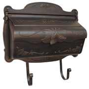 Special Lite Products Floral Horizontal Wall Mounted Mailbox; Copper