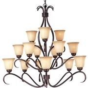 Maxim Lighting Basix 15-Light Chandelier; Wilshirewith Oil Rubbed Bronze Shade