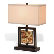 Port 68 Bainbridge 21'' H Table Lamp with Rectangular Shade; Bronze