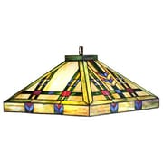 Meyda Tiffany Mission Arts and Crafts Southwest Prairie 4 Light Pool Table Light