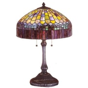 Meyda Tiffany Tiffany Candice 24'' H Table Lamp with Bowl Shade