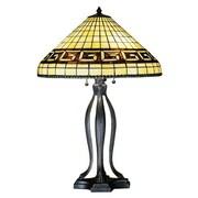 Meyda Tiffany Greek Key 30'' H Table Lamp with Bowl Shade