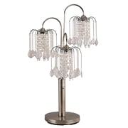 ORE Furniture Crystal 34'' H Table Lamp with Novelty Shade; Antique Brass