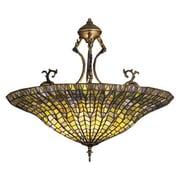 Meyda Tiffany Tiffany Lotus 3 Light Inverted Pendant